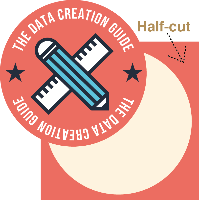 Round Shape Stickers - Half Cut