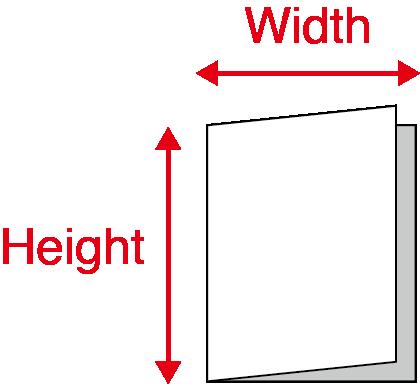 Folded Pamphlets - Half folds Final Size