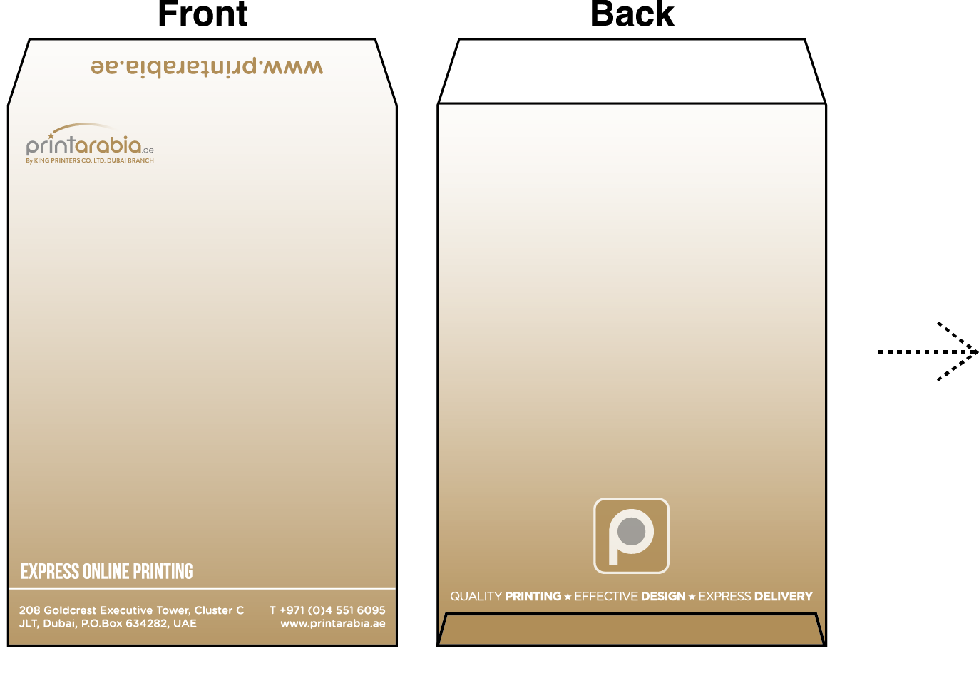 Custom Envelopes - Do's and Don'ts when laying out your design 05 Image