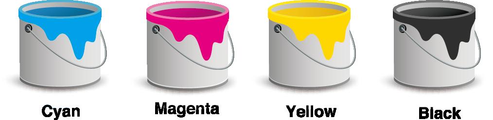 Spot Colours - Process Colour Inks 01 Image