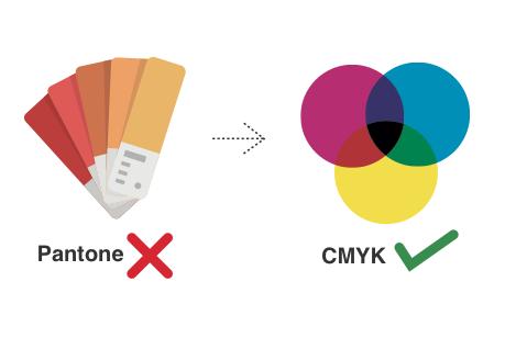 Spot Colours - Sorry, no Pantone! CMYK please